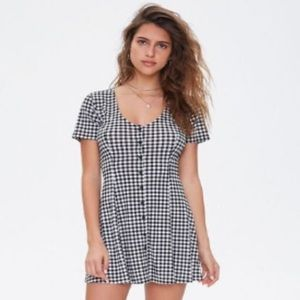Forever 21 - Gingham Fit & Flare S Mini Dress NWT